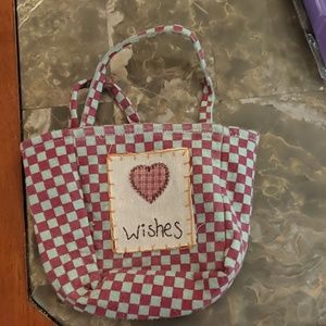 Small Red and Grey Decorative Tote